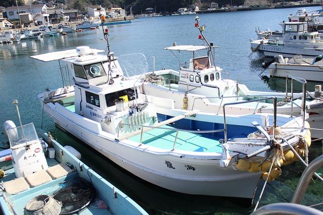 1:遊漁船 海龍 エサ釣り ジギング 釣具店 長久 星賀港 船釣り 船体 ギャラリー 正面